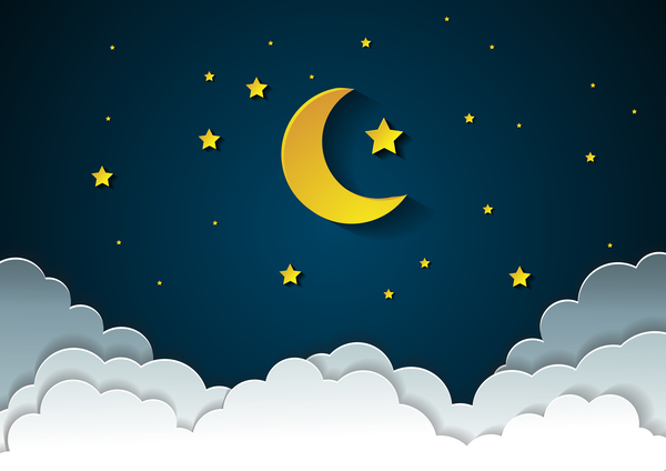 moon with stars and cloud in nightime cartoon vector free free car clipart vectors free car clipart images