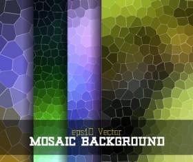 Mosaic background shining vector