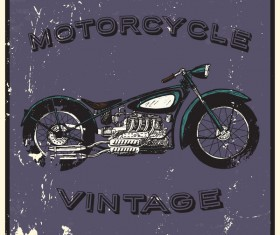 Motorcycle vintage poster vector background 01