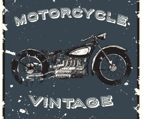 Motorcycle vintage poster vector background 02