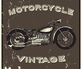 Motorcycle vintage poster vector background 03