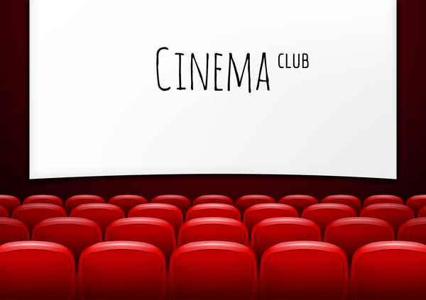 Movie Theater Background With Red Seats Vector 04 Free Download