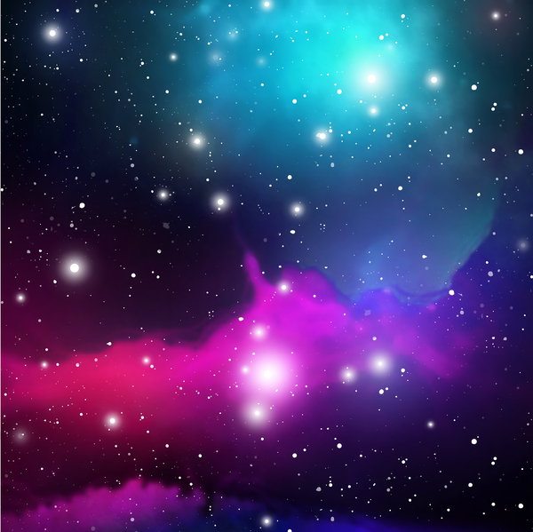 Mysterious Space Background Art Vectors 02