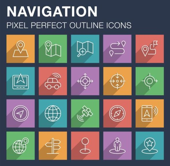 Navigation outline icons