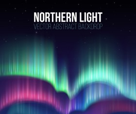 Northern light vector abstract backdrop vector 01