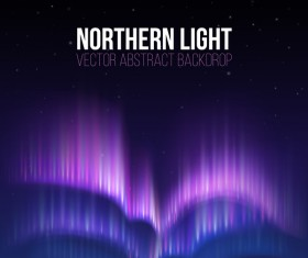 Northern light vector abstract backdrop vector 02
