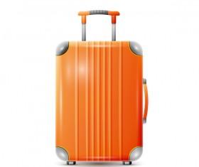 Orange Trolley case vector illustration