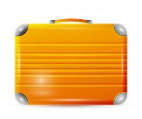 Orange polycarbonate suitcase vector
