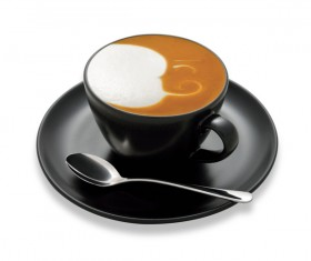 Ornamental art and taste of both latte coffee 20