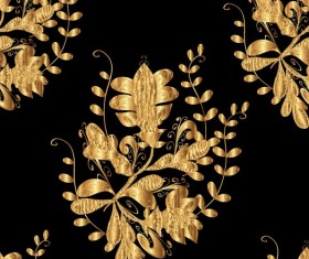 Ornaments golden luxury design vectors 03