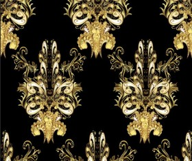 Ornaments golden luxury design vectors 04
