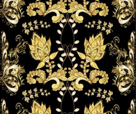 Ornaments golden luxury design vectors 05