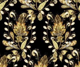 Ornaments golden luxury design vectors 06