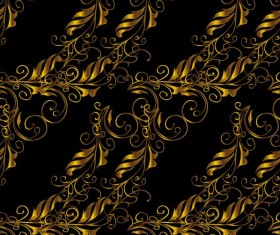 Ornaments golden luxury design vectors 07