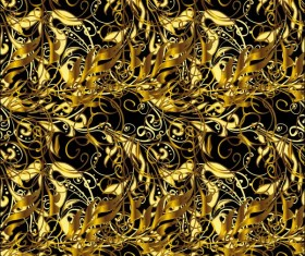 Ornaments golden luxury design vectors 08