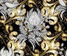 Ornaments golden luxury design vectors 09