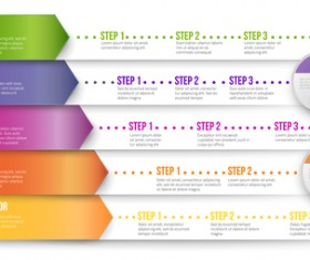 Paper tapes option infographic template vector 09