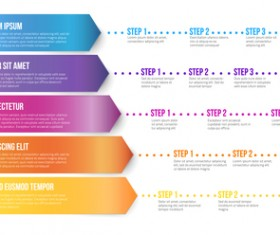Paper tapes option infographic template vector 13