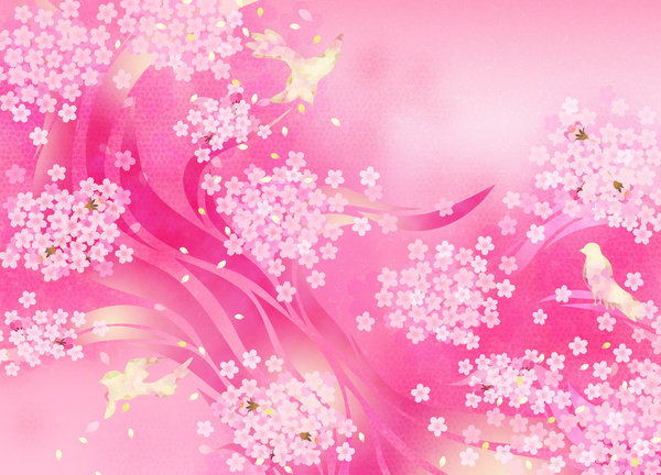 Pink floral background Stock Photo - Backgrounds stock ...