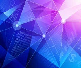 Polygon geometry and data background vector