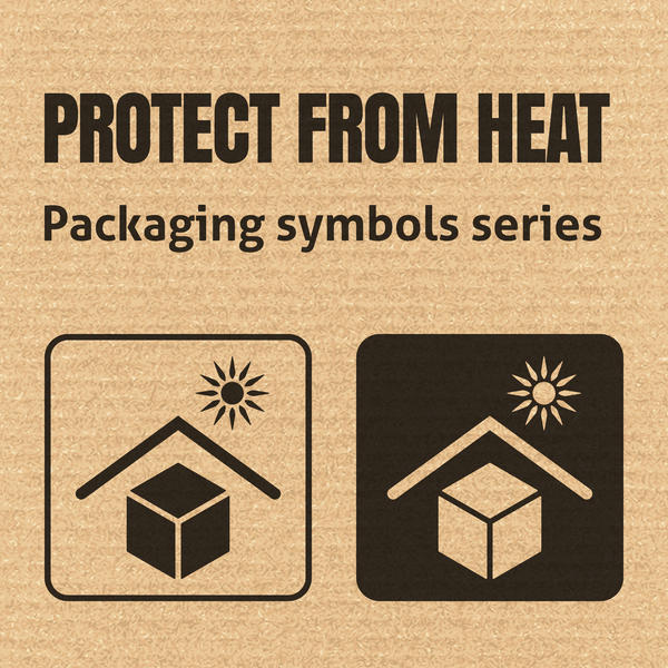 Fragile packaging icons vector free download