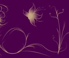 Purple aesthetic pattern background Stock Photo