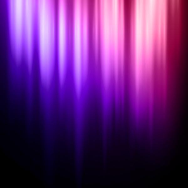 Purple light curtains background vector