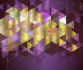 Purple with golden geometry background vectors