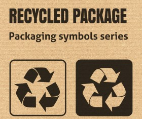 Recycled package icons series vector