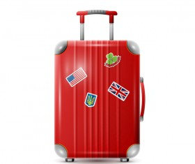 Red Trolley case vector