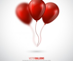 Red balloon with blurs background vector