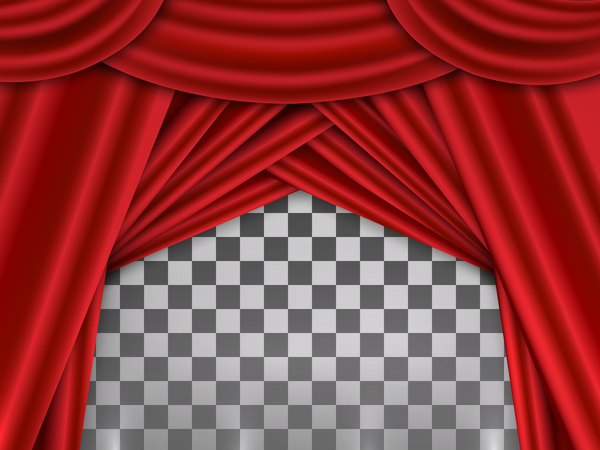 Curtains Ideas curtains background : Red curtains background illustration vector - Vector Background ...