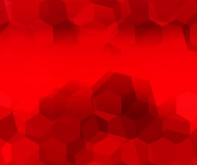 Red gradient backgrounds with hexagon vector