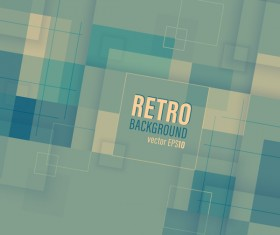 Retro business background template vector 02