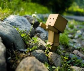 Sad carton people Stock Photo