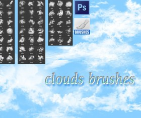 Set of Clouds photoshop brushes