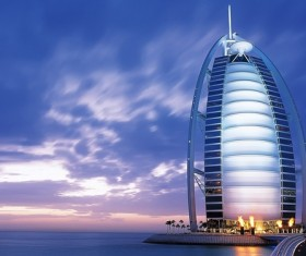 Seven Star Hotel in Dubai Stock Photo