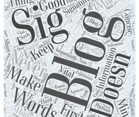 Sig blog word cloud concept background