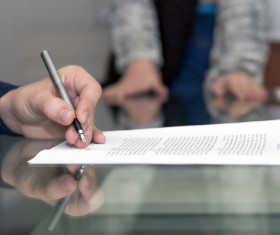 Sign a commercial contract Stock Photo 01