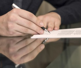 Sign a commercial contract Stock Photo 02