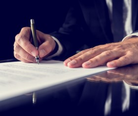 Sign a commercial contract Stock Photo 03