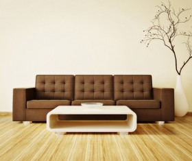 Simple home furnishings Stock Photo