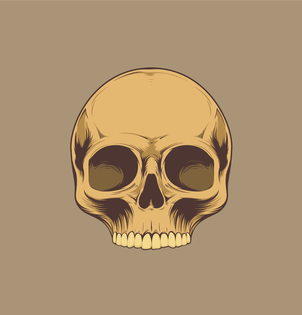 Skull retro illustration vector