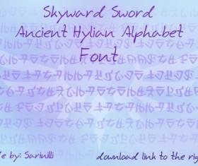 Skyward Sword Ancient Hylian font