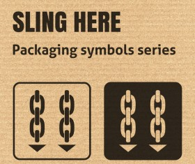 Sling here icons series vector