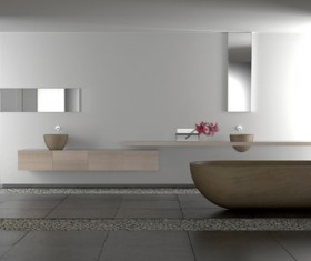 Small size bathroom decoration effect HD picture 01
