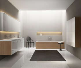 Small size bathroom decoration effect HD picture 03