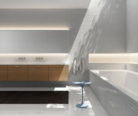 Small size bathroom decoration effect HD picture 04
