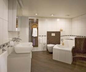 Small size bathroom decoration effect HD picture 05