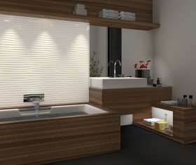 Small size bathroom decoration effect HD picture 06